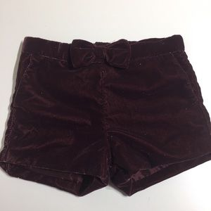 Other - H&M Girls burgundy velvet elegant shorts